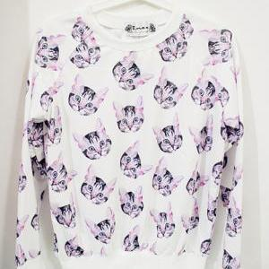 on sale~cat long sleeve T-shirt