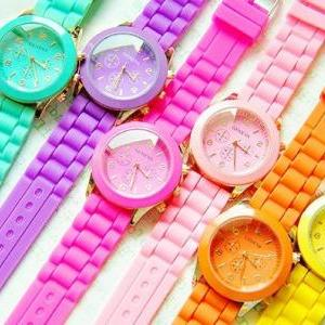 on sale~Fluorescent candy watches