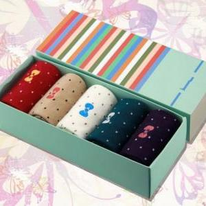 Set of 5 Polkadot and Bow Winter So..