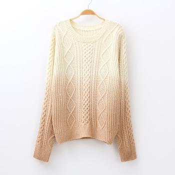 Autumn gradient coffee color sweater